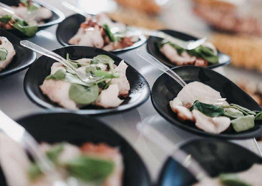 Casamentos apetitosos: a chave para um dia completo por uma experiência gastronómica rica!