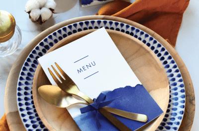 Les 10 idées les plus créatives pour des menus de mariage sensationnels en 2017