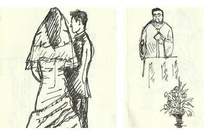 Live sketching: desenhe o seu casamento