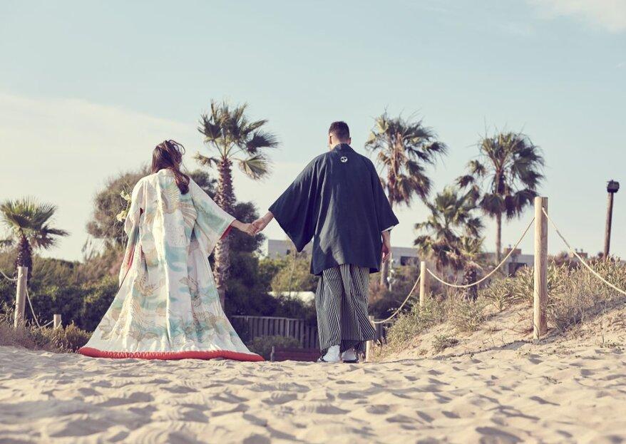Por sorpresa: la boda japonesa de Silvia y Rubén