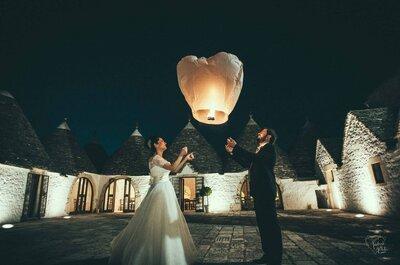 Linternas o globos chinos en tu boda. ¡Un espectáculo radiante en el cielo!