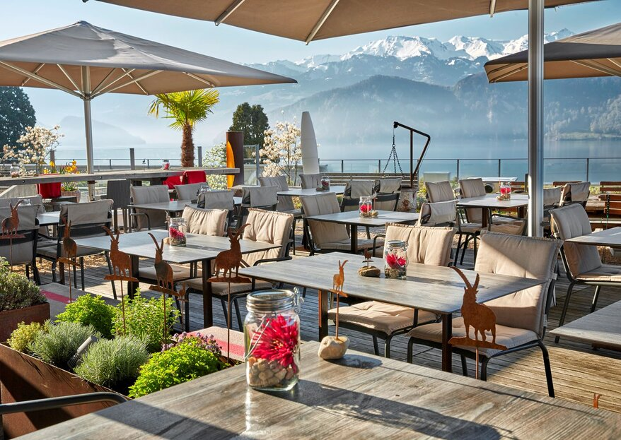 Hotel Alpenblick Weggis: Hochzeit mit Blick auf den Vierwaldstättersee