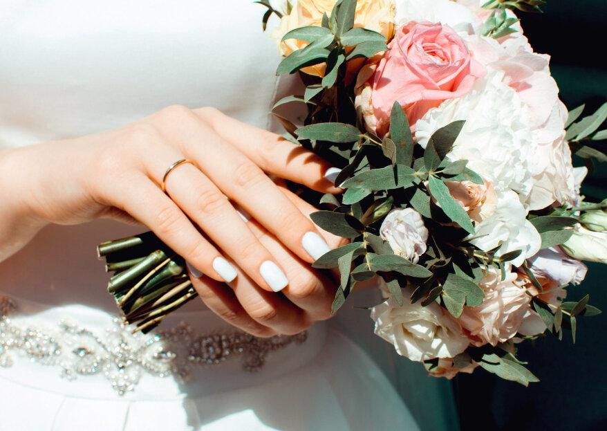 ¿Cómo combinar tu vestido de novia con el ramo de flores?