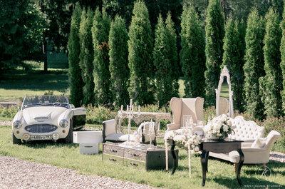 Цветная мебель на свадьбе, почему бы и нет?
