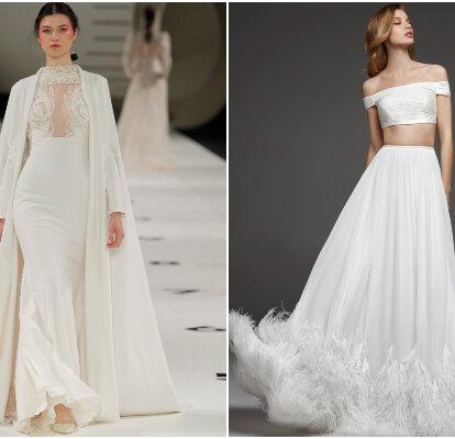 nuevas imágenes de zapatos clásicos último diseño 40 espectaculares vestidos de novia de dos piezas: evolución y ...
