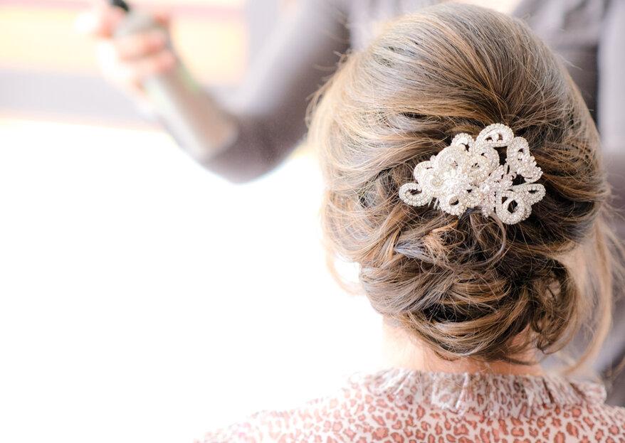 Complementos para peinado de novia: no pierdas la cabeza y ¡luce magnífica!