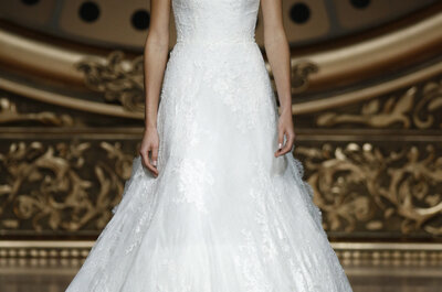 Wedding dresses with feminine necklines, defined details and fabulous fabrics for 2016