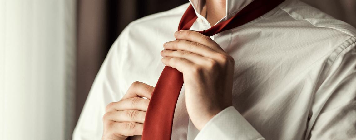 Wie binde ich eine Krawatte?