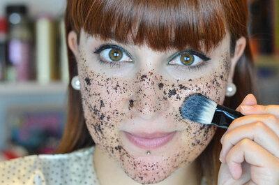 Beauty-Ritual für den Hochzeitstag – Gesichtsmaske aus Kaffeesatz für die Braut