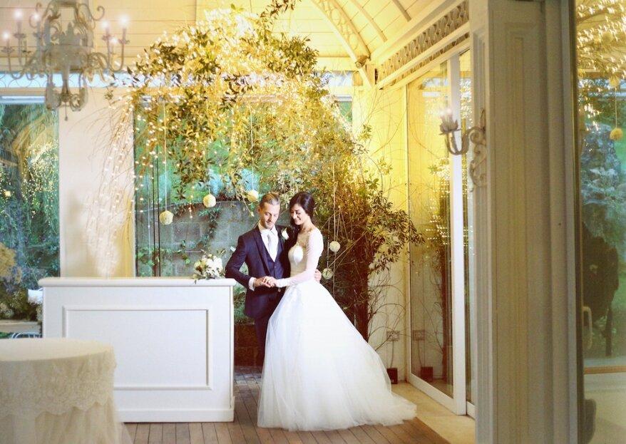 L'amore di Chiara e Vincenzo fiorisce in un romantico giardino d'inverno