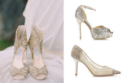 Scarpe da sposa Jimmy Choo 2015: metti il glamour ai tuoi piedi!