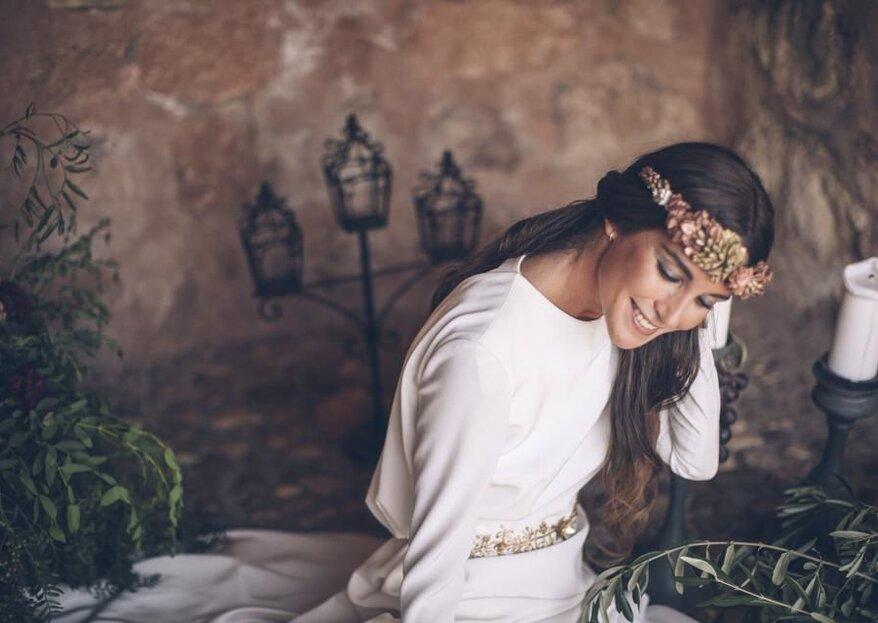 Cómo elegir el tocado de novia en 5 pasos