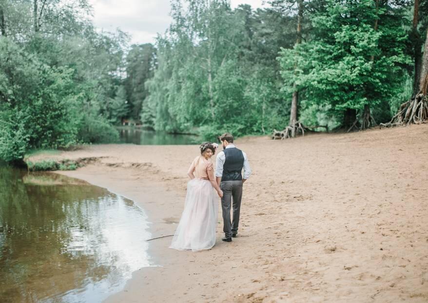 Свадебная съемка Виталия и Сони на лесном озере