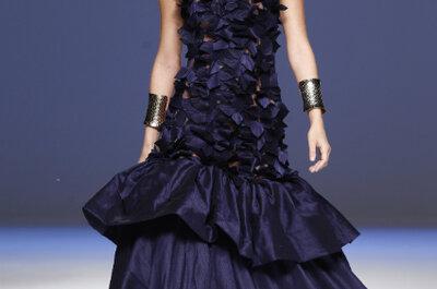 Fotos de vestidos para madrinhas e convidadas em tons de azul escuro
