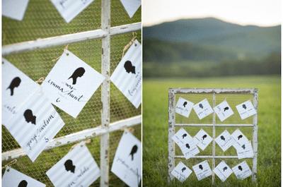 El contorno perfecto en tu boda: La decoración con siluetas se convierte en una tendencia que no querrás dejar pasar