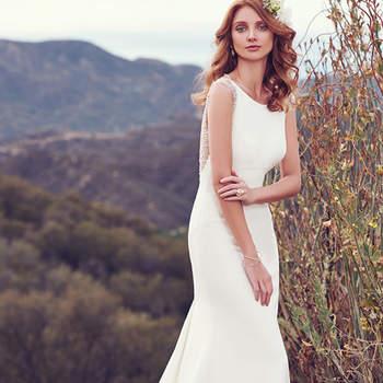 Aldora Satin ist das Stichwort bei diesem Brautkleid – das elegante Modell hat es in sich, denn neben einem schlichten Dekolleté begeistert der Schnitt in Meerjungfrauen-Form.