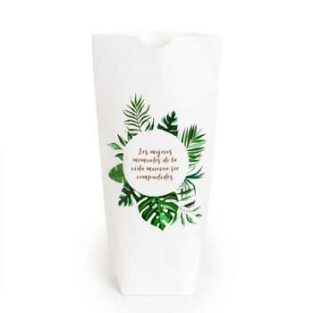 Busta foglie tropicali in lingua spagnola- Compra en The Wedding Shop
