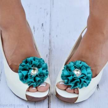 http://www.etsy.com/listing/104736599/peacock-blue-shoe-clips-wedding