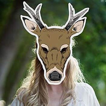 Atrezzo Photocall Máscara de ciervo- Compra en The Wedding Shop