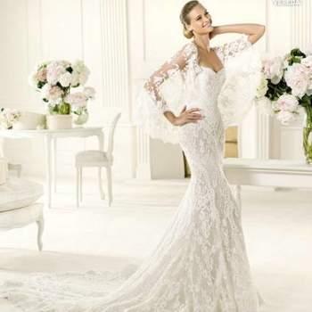 Precioso vestido de la nueva colección de Manuel Mota. Modelo Vereda.
