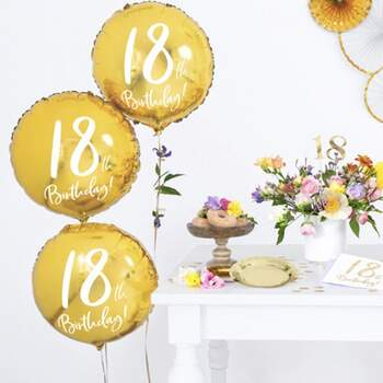 Ballon 18 Ans Or - The Wedding Shop !