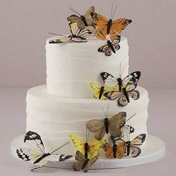 Cake Topper Papillon Naturel 24 Pièces - The Wedding Shop !