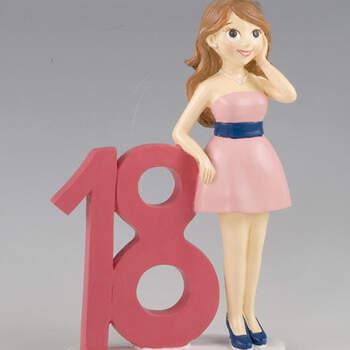 Figura para tarta 18 años chica- Compra en The Wedding Shop