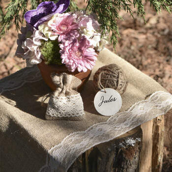 Camino de mesa yute y encaje- Compra en The Wedding Shop