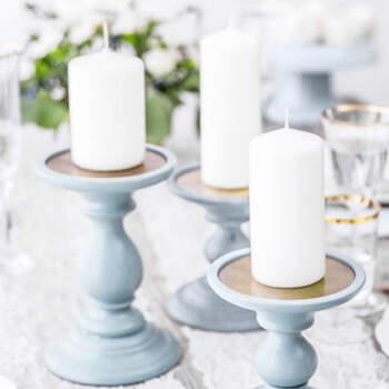 Vela Decorativa Blanca Opaco Medida 6 unidades- Compra en The Wedding Shop