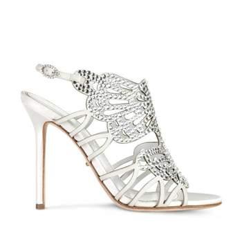 Chaussure ouverte, ornée de diamants - Crédit photo: Sergio Rossi