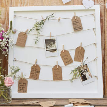 Libro de firmas marco con cordones- Compra en The Wedding Shop