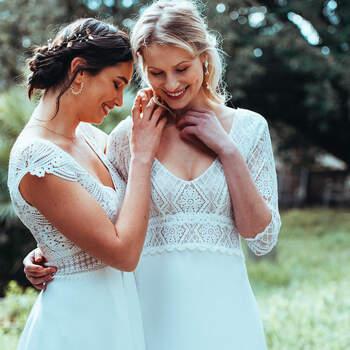 Photo : Guillaume Gilles - Elsa Gary, robes de mariée Phenix et Renouveau
