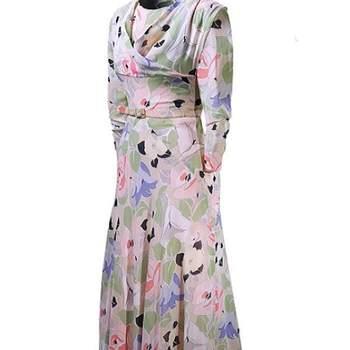 Robe colorée, légèrement plissée de couleur pastel. Très féminin et romantique. Photo : Balenciaga