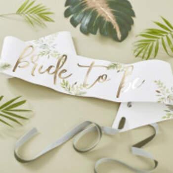 Bandeau Bride Thème Floral - The Wedding Shop !