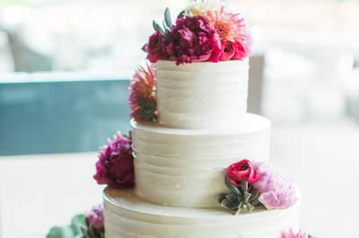Pasteles de matrimonio 2017. ¡Las mejores tendencias para tu gran día!