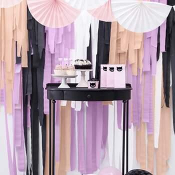 Décoration bandes noires 4 pièces - The Wedding Shop !