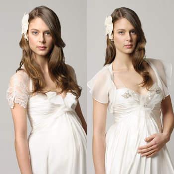A beleza de qualquer mulher fica evidente durante a gravidez. Ainda mais vestida de noiva! Inspire-se nestes modelos de vestidos ara esta fase da vida!