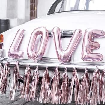 Kit Voiture Complet En Or Rose - The Wedding Shop !