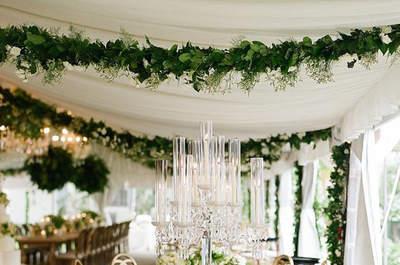 Центральные композиции на стол: последние тренды оформления свадебного банкета!