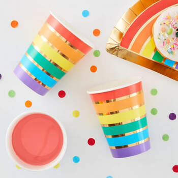 Vasos arco iris 8 unidades- Compra en The Wedding Shop