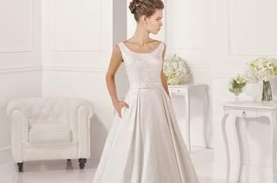 Descubra os vestidos de noiva com decote redondo e realce a sua beleza!