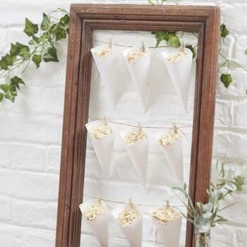 Cônes Blancs Mariage 10 Pièces - The Wedding Shop !