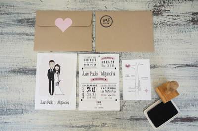 AF MARKET: Invitaciones de boda únicas y originales