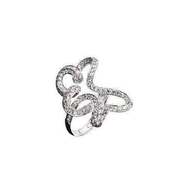 Bague, or blanc (6grs), pavage diamants (1.60cts) Source : mauboussin.fr
