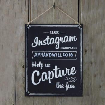 Letrero de boda de Instagram- Compra en The Wedding Shop