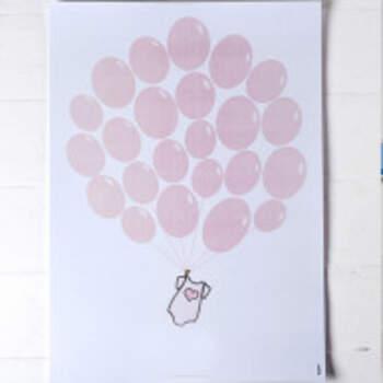 Livre d'or Ballons Rose - The Wedding Shop !