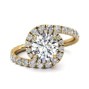 Photo : Diamants et Carats - Modèle : Elena en or jaune