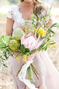 84 Buquês de noiva com Proteas 2017: você vai se apaixonar por essas flores!