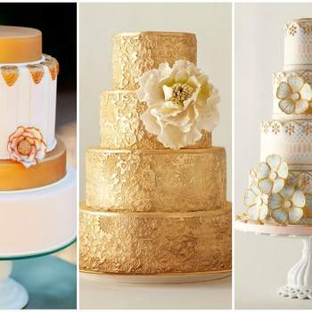 Photo: AK StudioDesign; City SweetsConfections; Anna Williams-Romantic Wedding Cakes by Kerry Vincent