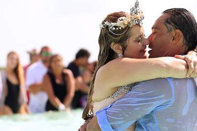 Chapuzón nupcial inolvidable. ¡Así fue esta inolvidable boda en el Caribe!